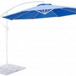 Круглый зонт Ареццо 3 м. на боковой стойке, Краснодар