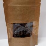 Пакет бумажный крафт дойпак с замком зип лок с прозрачным окном, Краснодар