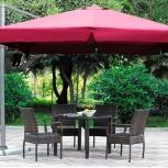 Садовый зонт 3х3 м. бордовый, Краснодар