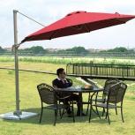 Зонт садовый бордовый 3 м диаметром, Краснодар