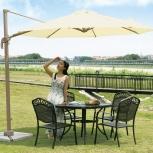 Садовый зонт кремовый 3,5 м, Краснодар