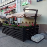 Зонт на боковой опоре 4 х 4 м. деревянный, Краснодар