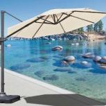 Зонт садовый кремовый 3 м диаметром, Краснодар