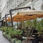 Зонт на боковой опоре 3.5 х 3.5 м. деревянный каркас, Краснодар