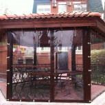 Прозрачные шторы ПВХ для беседки веранды, Краснодар